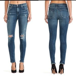 Citizens rocket high rise blue ripped skinny jean